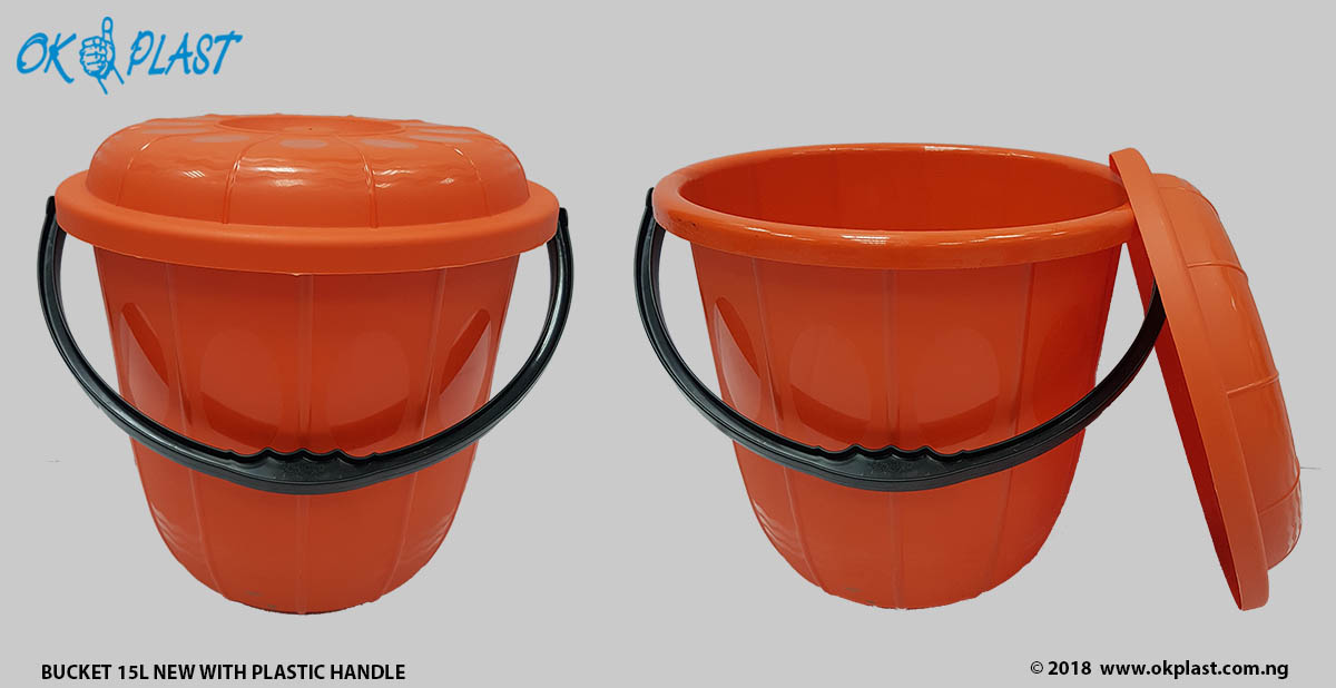 Bucket-15L-New-with-Plastic-Handle
