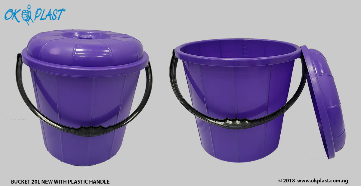 Bucket-20L-New-with-Plastic-Handle